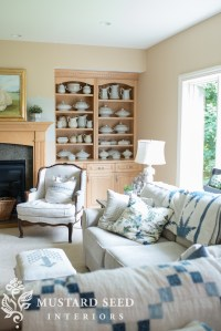 painting the living room built-ins - Miss Mustard Seed