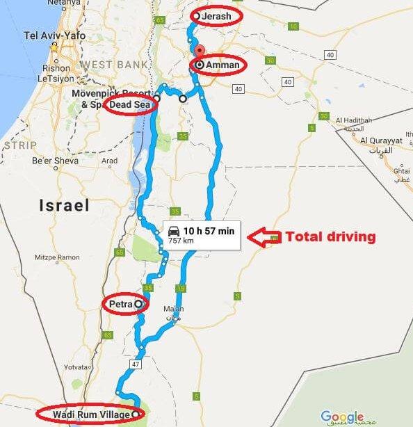Jordan 6 days sample itinerary Miss Tourist Travel Blog