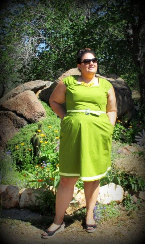 Avocado green Cambie dress