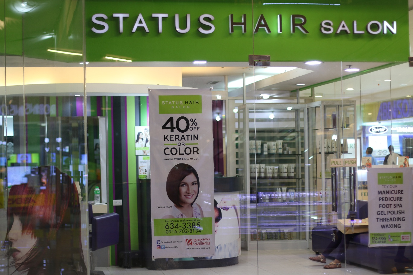Salon But Promo Status Hair Salon Hair Makeover With Color Highlights