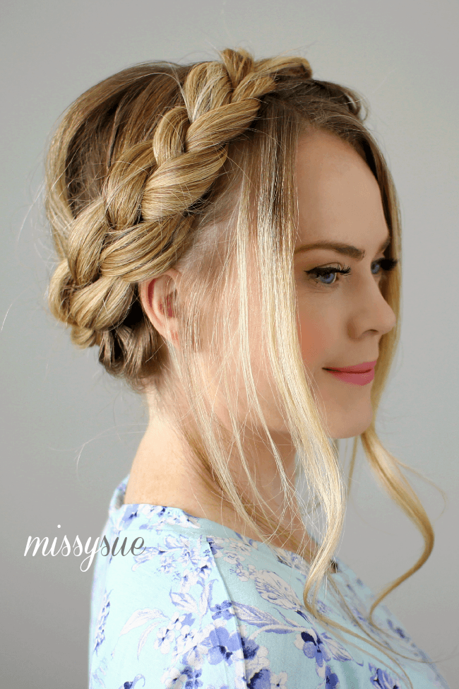 Dutch and Fishtail Crown Braid