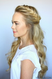 French Braid Curls Hairstyles - Hairstyles By Unixcode