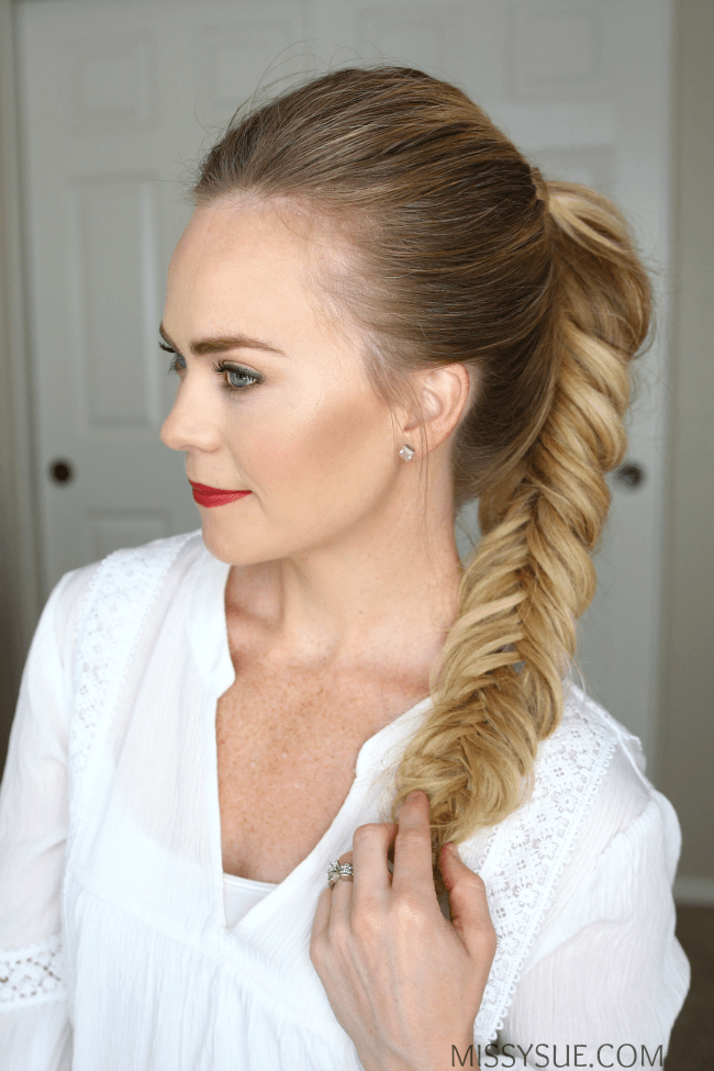 fishtail-braid-ponytail-hair-tutorial