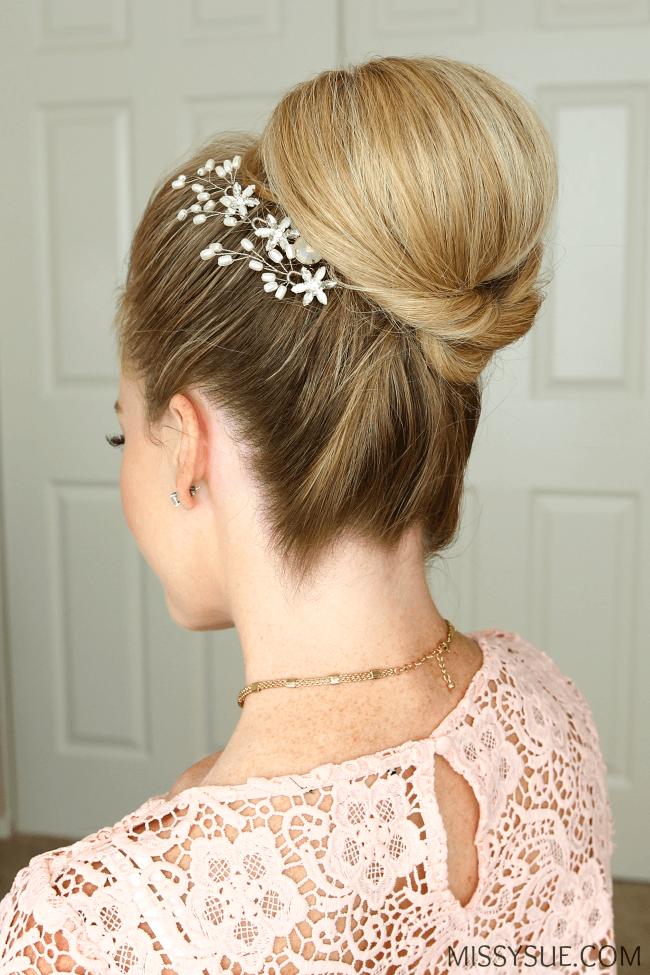Braid Wrapped High Bun Style Info - High bun hairstyle tutorial