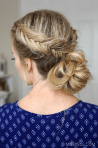 dutch braid low bun tutorial hair pinterest dutch braid ...