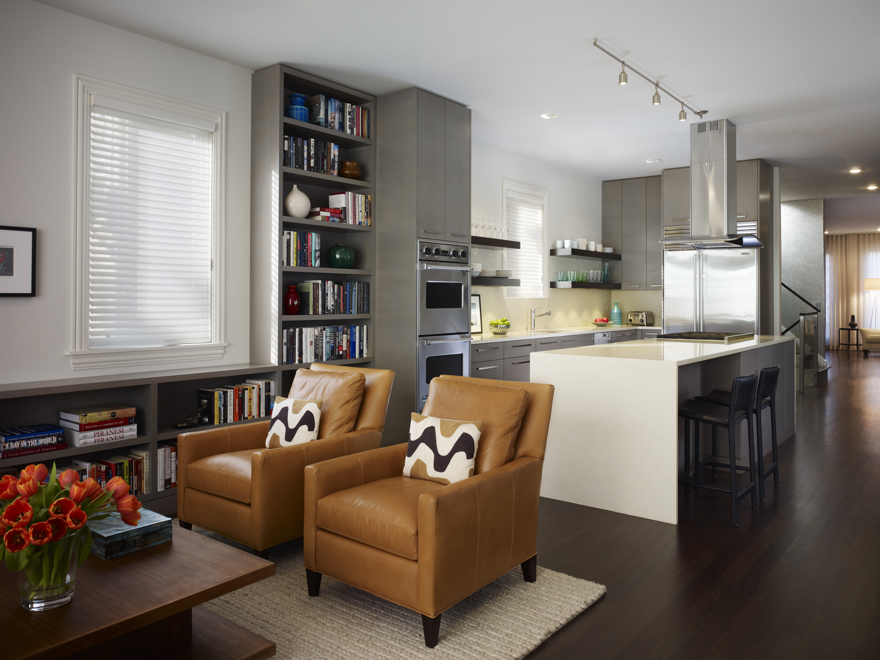 Modern Living Room With Kitchen Interior Design Modern Living Room Design Breaking With One Past And Recalling
