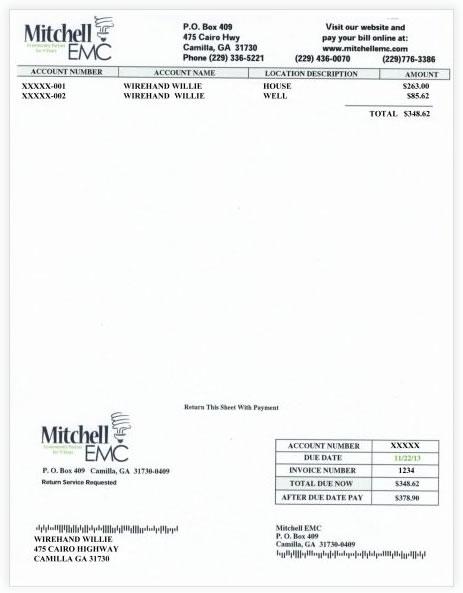 Invoice Billing Mitchell EMC