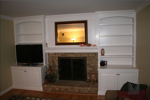 Built In Bookshelves Around Fireplace Built-ins & Bookcases Continued - Mitre Contracting, Inc.