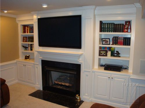 Fireplace Surround Moldings And Built In Cabinetry Mitre