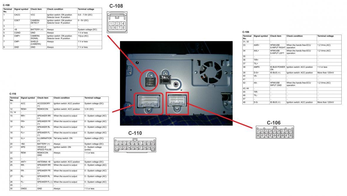 2013 Lancer LX - Factory Stereo/Reversing Camera Wiring - Mitsubishi