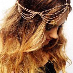 Head chain dourada