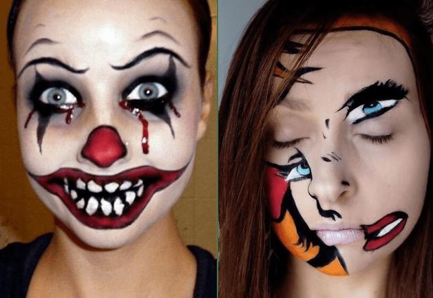 Maquiagem fantasia macabra