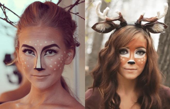 Maquiagem fantasia veado