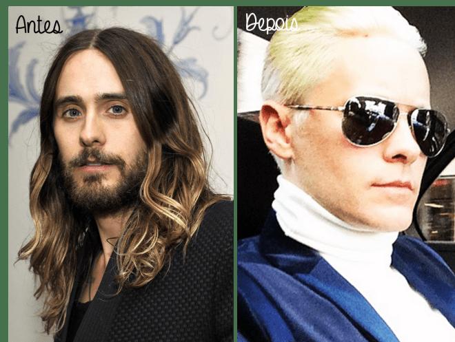 Cabelo Jared Leto antes e depois