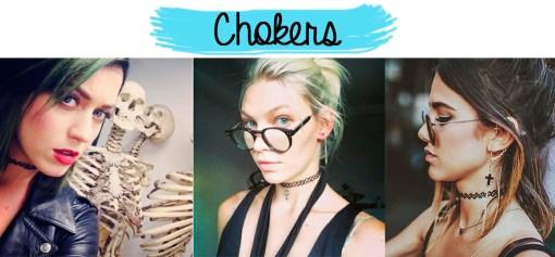 Chokers nas famosas