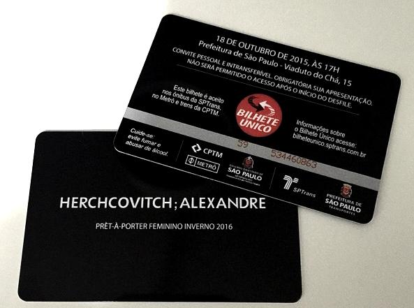 Convite Alexandre Herchcovitch spfw inverno 2016