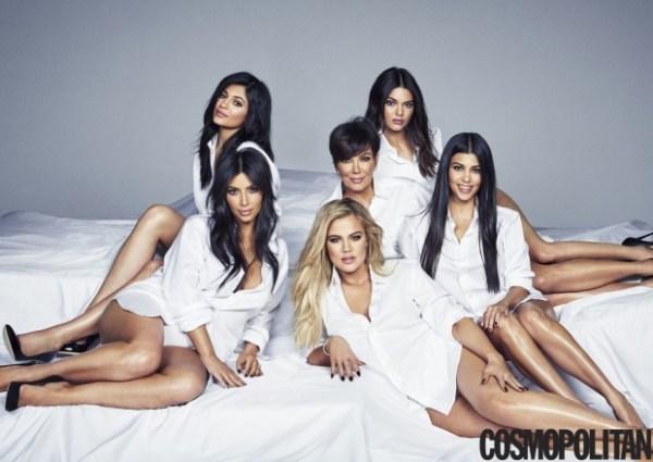 Revista cosmopolitan ensaio Kardashians