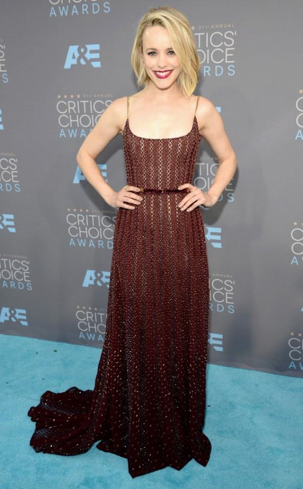 Cricit's Choice Awards 2016 Look Rachel McAdams