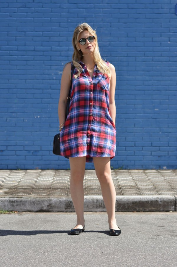 Look do dia vestido xadrez forever 21 5