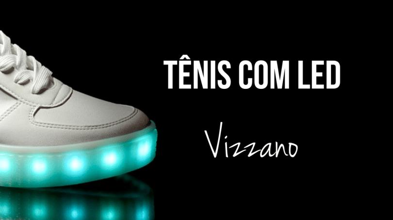 tênis com led da vizzano