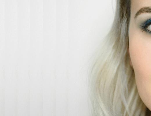 Tutorial maquiagem azul arco-íris de inverno