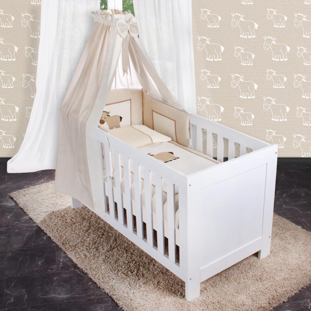 9 Baby Beds Cots 70x140 Available With Or 5 Piece Set For - Babybett Set