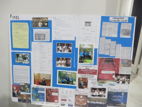 Choir history display board One.