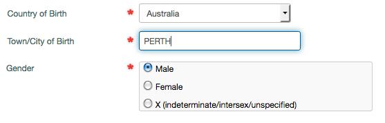Intersex in Unique Student Id, Australia