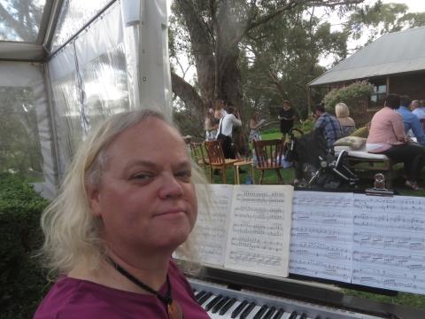 MDJ at piano