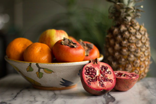 Winter Fruit Salad (Pineapple, Persimmon, and More) from MJ\u0027s Kitchen
