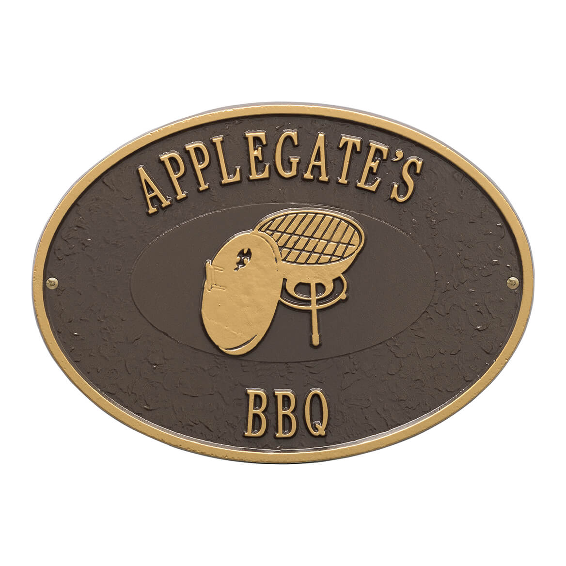 Plaque Grille Personalized Charcoal Grill Deck Plaque Deck Signs
