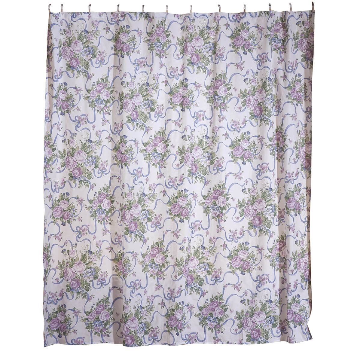 Lavender Shower Curtains Ribbons And Roses Shower Curtain Set