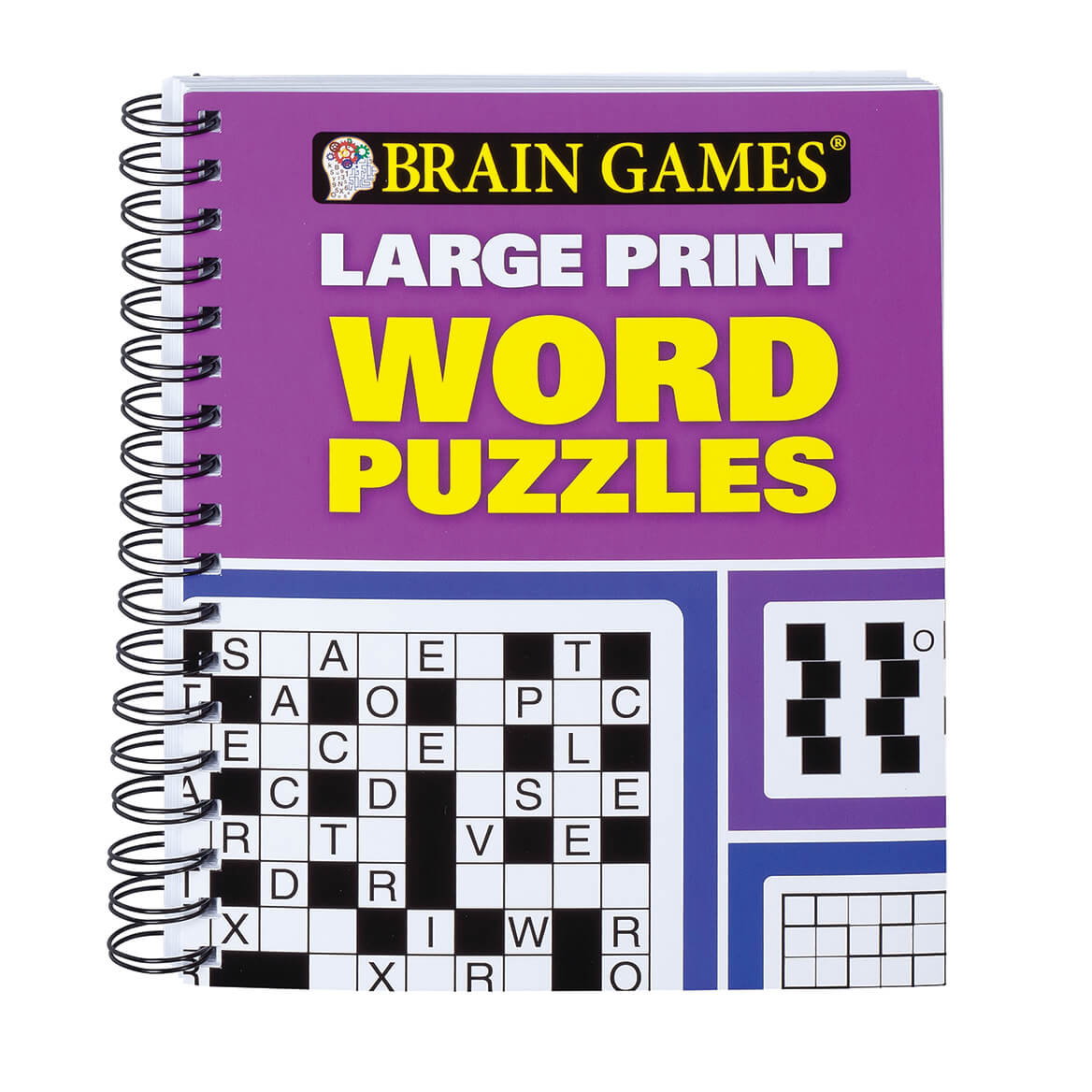 Brains Games Brain Games Large Print Word Puzzles Puzzle Book Miles