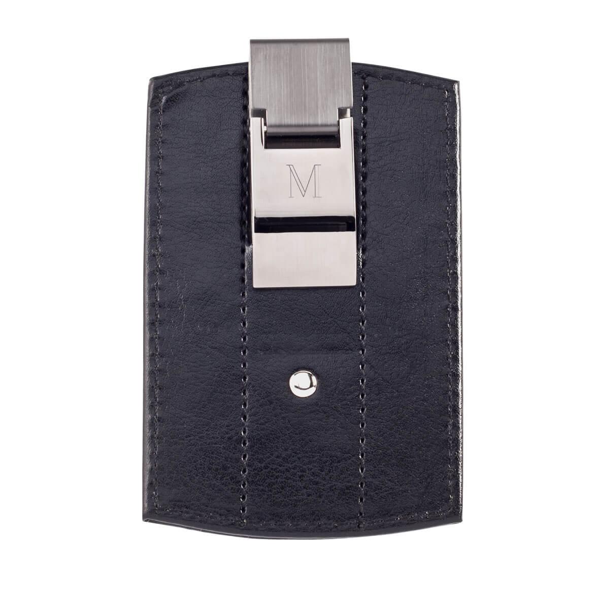 monogrammed money clip wallet