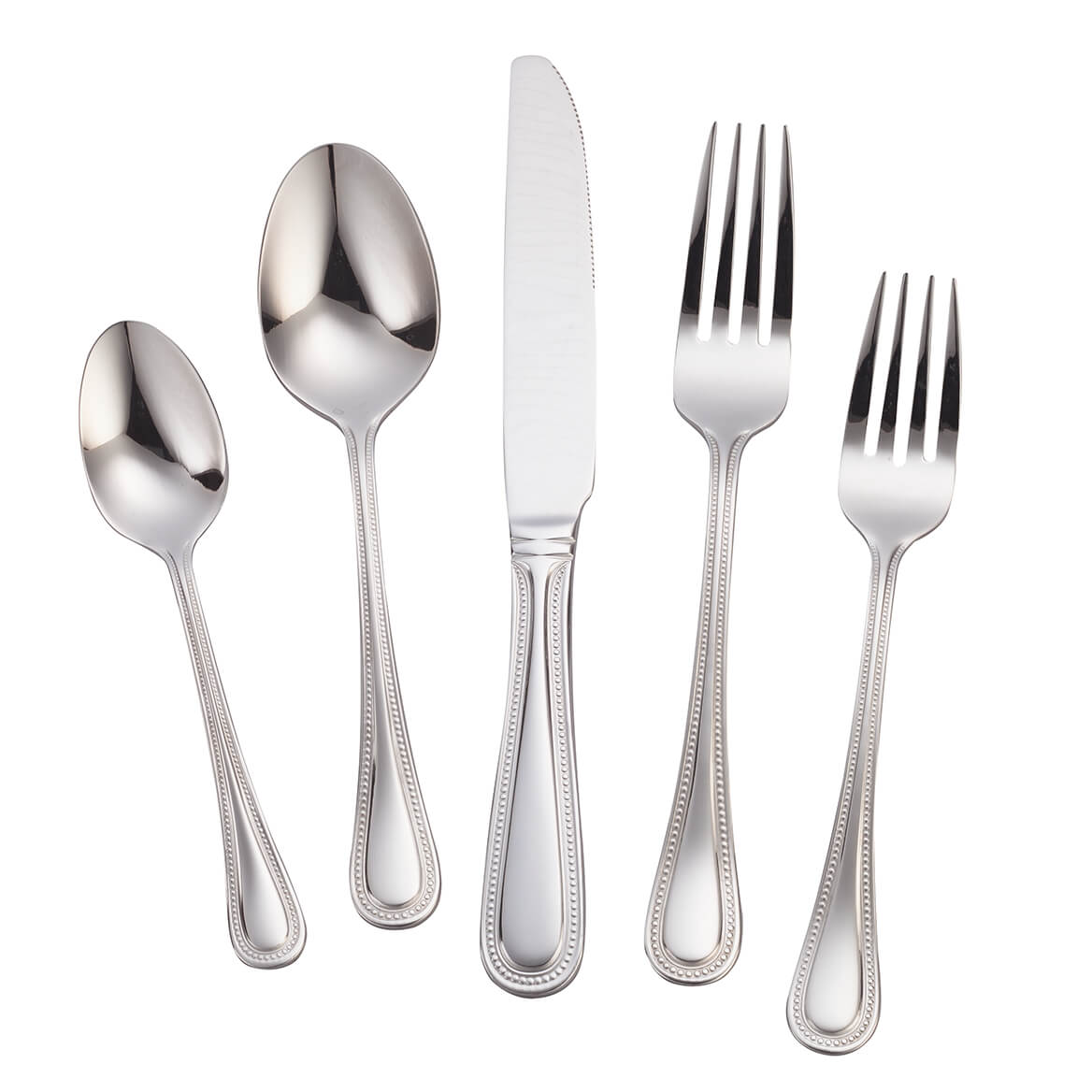 Best Deal On Silverware William Roberts Pearl 45 Pc Flatware Set Miles Kimball