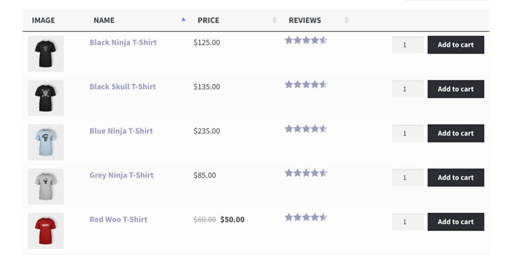 WooCommerce Product Table Bestselling Product Table Plugin