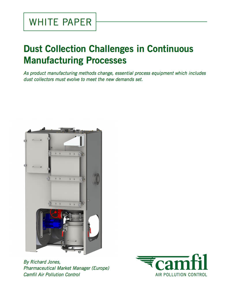 Manufacturing Methods Dust Collection Challenges In Continuous Manufacturing Processes