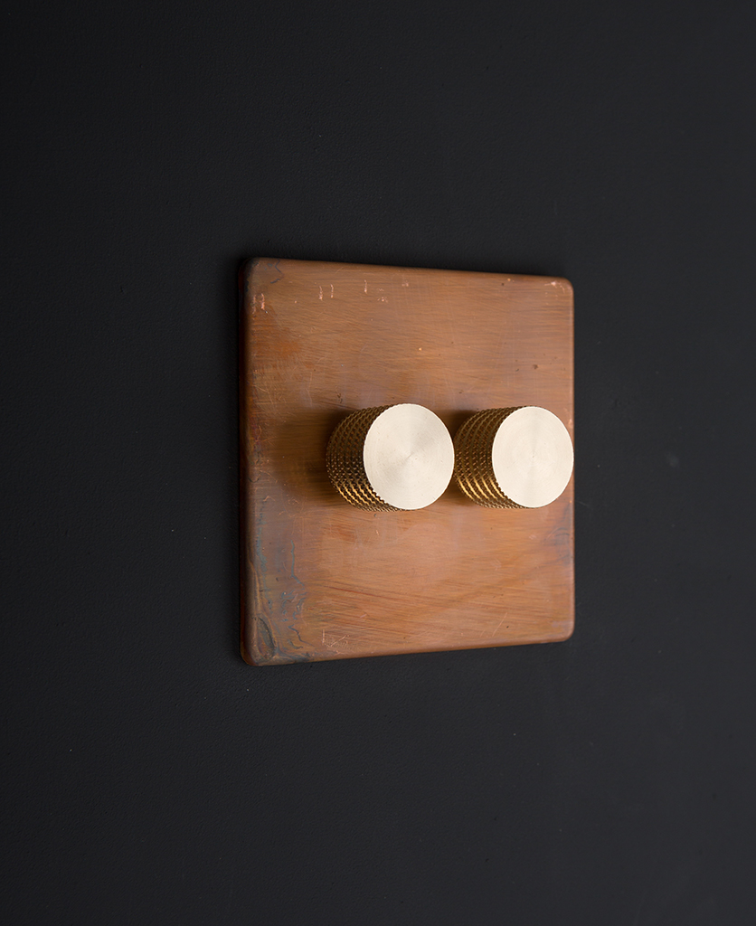 Dimmer Switch Copper Double Dimmer Switch