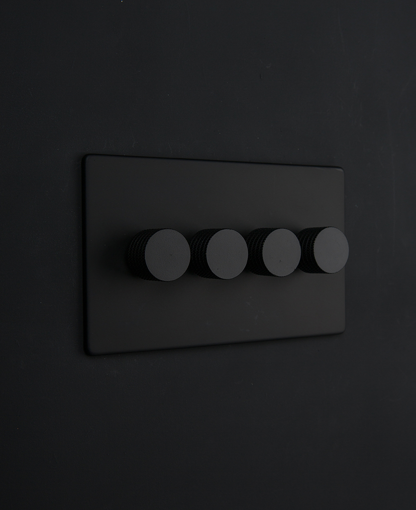 Dimmer Switch Black Quadruple Dimmer Switch