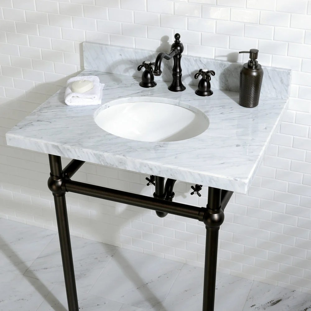 Elegant Bathroom Sinks The Templeton Console Vanity Offers Solutions For An Elegant