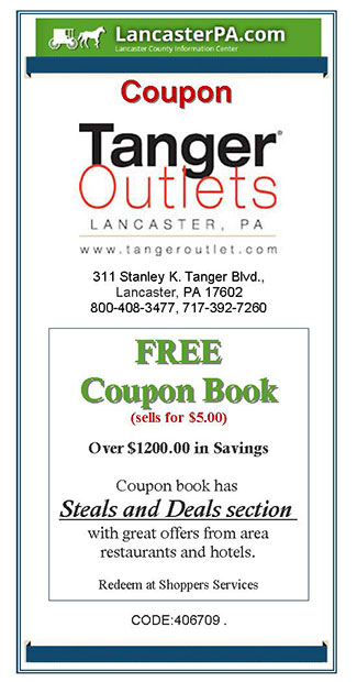 Tanger Outlets Coupons - Coupon for Lancaster PA Outlet Stores Coupons