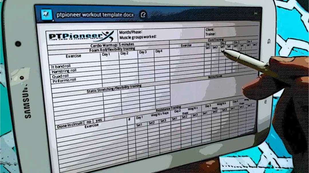 Workout Schedule Template - Your Clients will Love you! - personal training workout templates