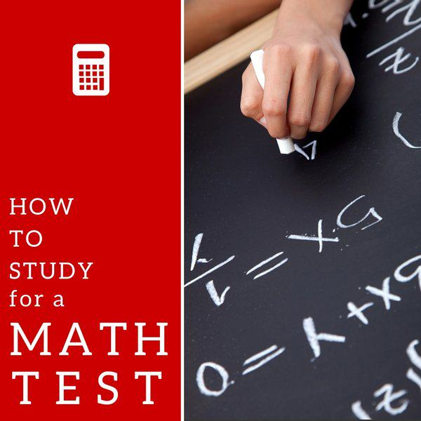 Math Test How to Study for a Math Test