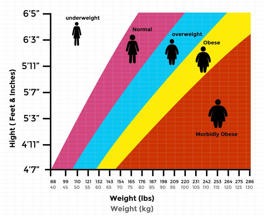 Body Mass Index Calculator for Men and Women - Indian BMI Chart