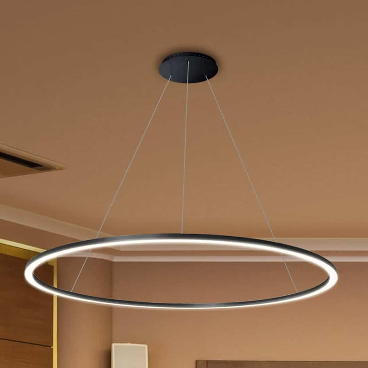Modern Circular Chandelier Tania Vmc34911bl 39 Quot Led Chandelier Adjustable Suspension