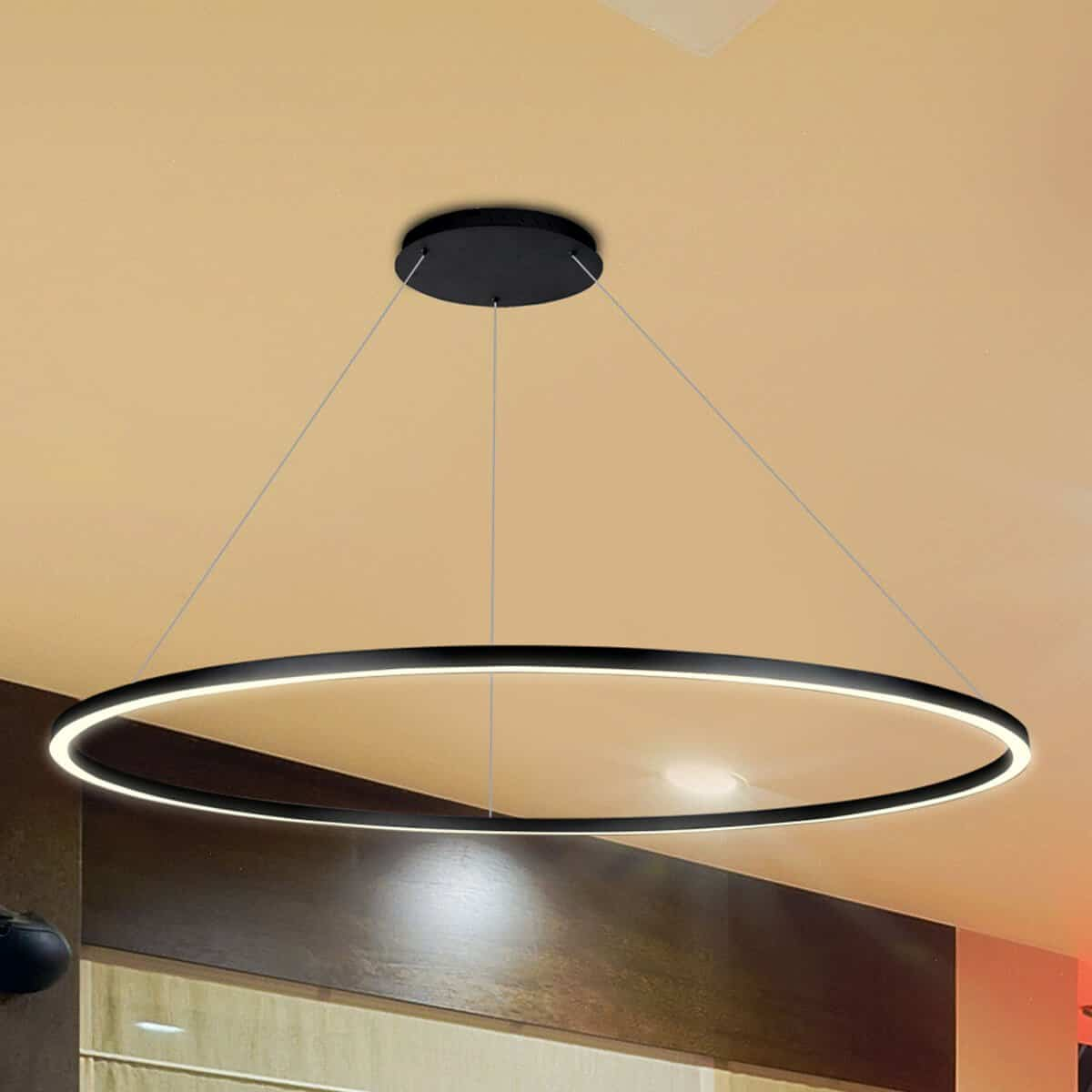 Modern Circular Chandelier Tania Vmc34912bl 51 Quot Led Chandelier Adjustable Suspension