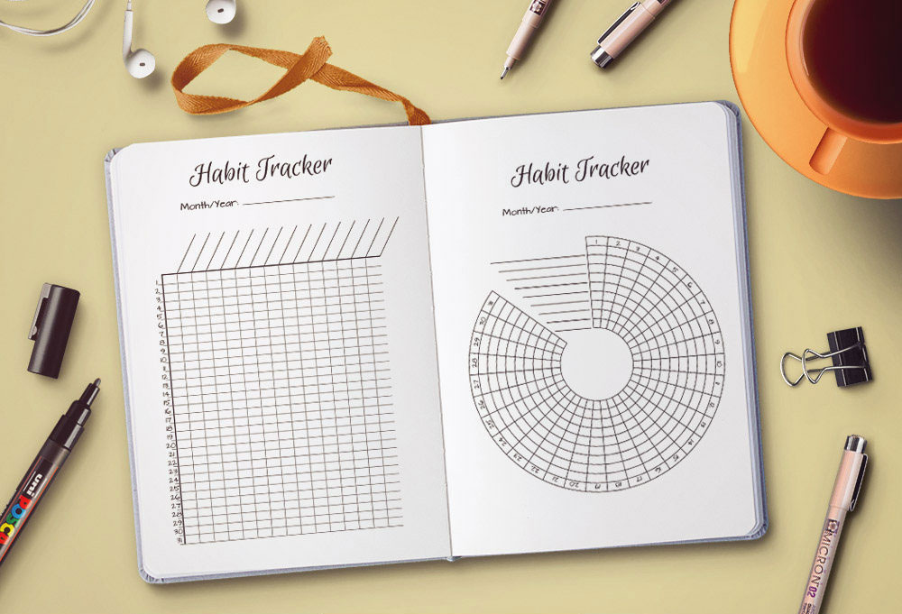 9 Unique Layouts To Track Habits In Your Bullet Journal - Wundertastisch
