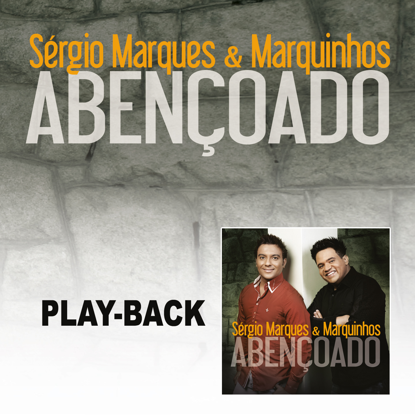 Cd Vitrine Sergio Marques E Marquinhos Abençoado Play Back Em Cd