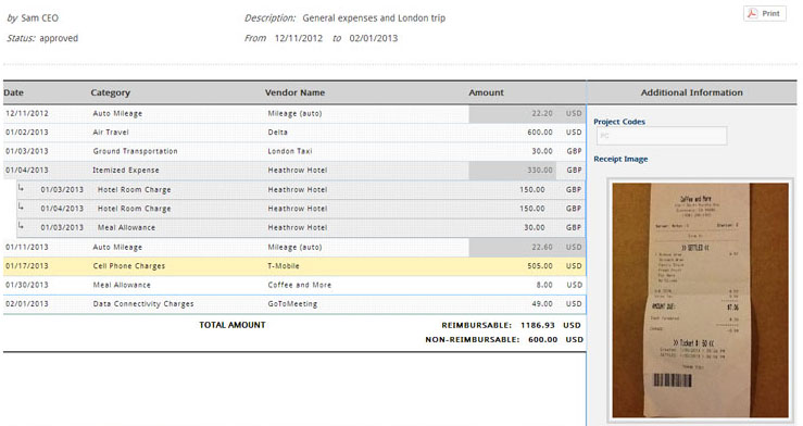 Expense Report Processing ExpensePath