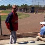 Hitting coach Mark Budaska